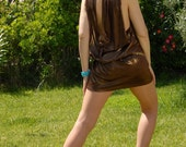 Coctail Dress, Chocolate Gold, Size S to M, Worldwide Shipping