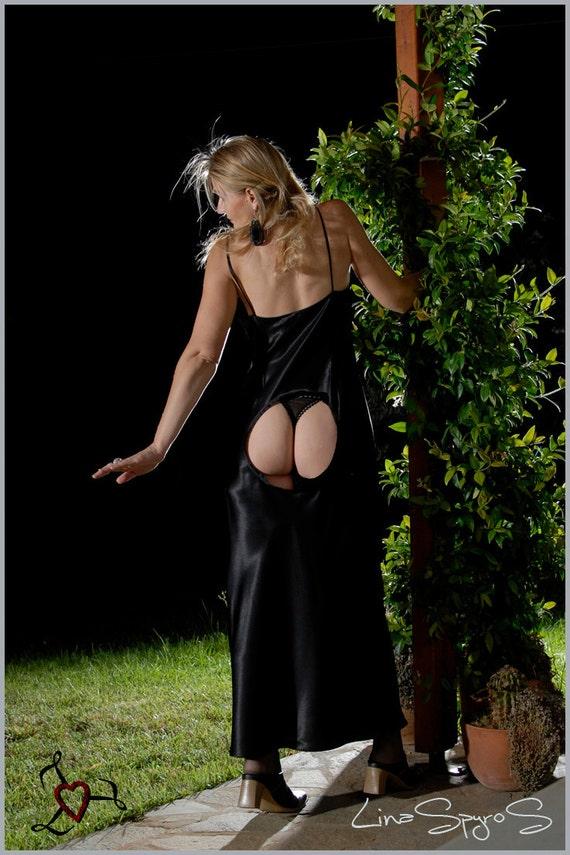 Very Sexy Long Dress, Black, Size M, Worldwide Shipping