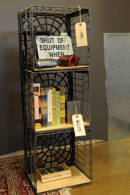 Model Emily Shares Milk Crate Bookshelves
