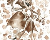 Cereal Monster Watercolor Prints: Count Chocula, Booberry and Frankenberry