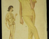 Vintage 1962 Advance Misses' Pajamas Beginners' Pattern 3033 Size 12 Bust 32