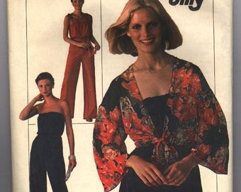 Vintage 1976 Simplicity Misses' Jiffy Sleeveless Jumpsuit and Unlined Jacket Pattern 7748 Size 10