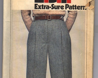 Vintage 1978 Simplicity Misses' Pants Pattern 8707 Sizes 12 14 16 UNCUT