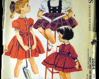Vintage 1959 McCall's Child's Dress and Weskit Pattern 5084 Size 5