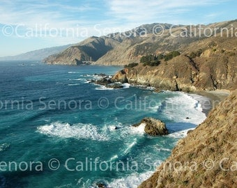 California Dreamin 16x24 Photograph of Beach Beauty with the Sun Surf and the Famous Big Sur Area