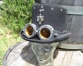 Steampunk Burning Man Leather Motorcycle Goggles