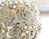 Brooch Heirloom Bridal Bouquet LARGE Size Crystal Brooch Custom Made Rhinestone Brooch