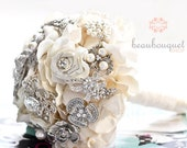 Bridal Bouquet Made of Rhinestone Brooches Deposit LARGE Size Crystal Brooch Heirloom Bridal Bouquet