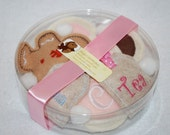 Round Clear Gift Container for your Custom Tea and Cookies Set