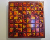 FREE Shipping: 10x10 Fall Colored Square Art