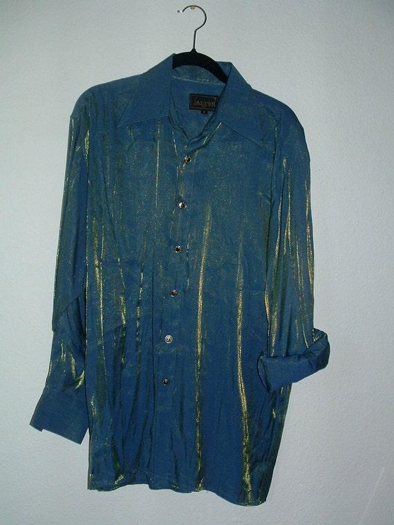 Men's disco shirt - mermaid-like