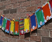 First Birthday Photo Banner - First Year Banner - Colorful