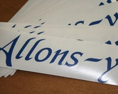 Allons-y Tardis Blue Decal