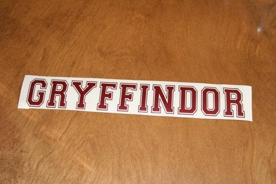 Gryffindor Fancy Decal