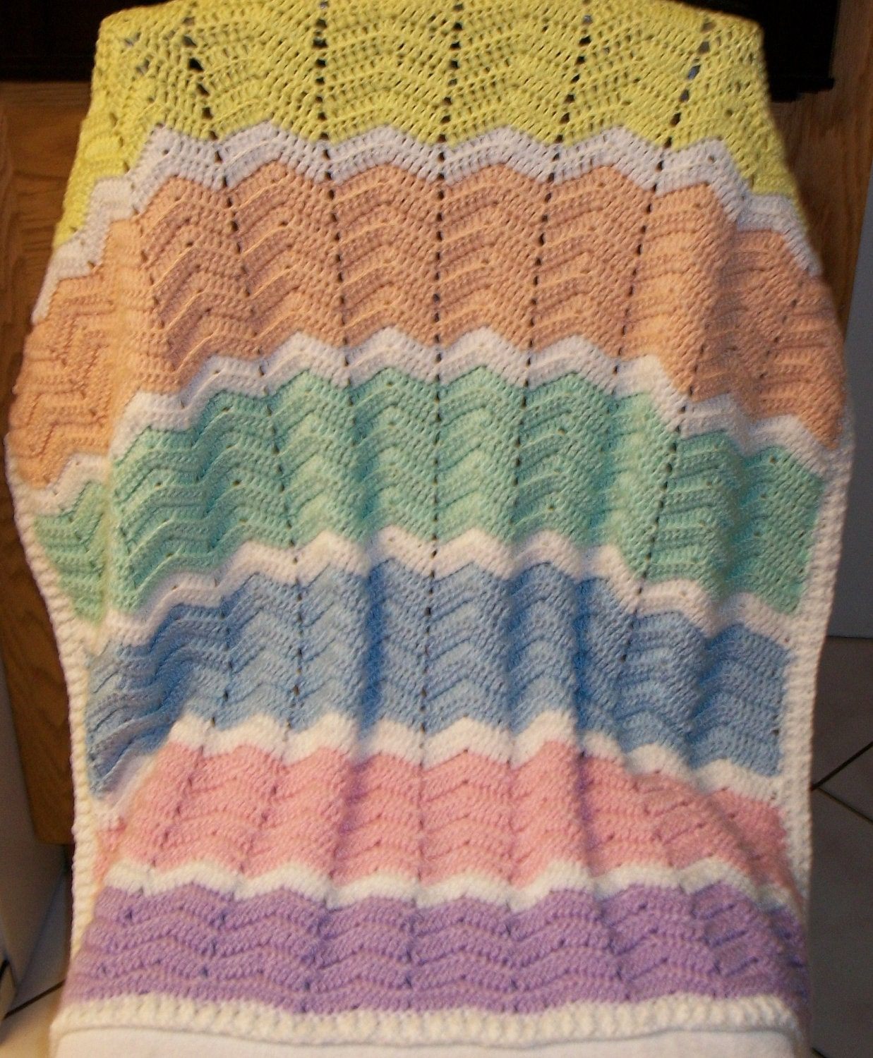 Zig Zag Knitting Pattern Baby Blanket : Crochet patterns zig zag blanket dancox for