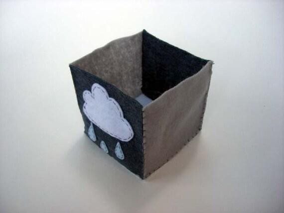 Grey Rain Cloud Folding Box