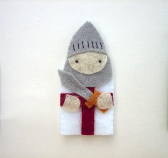 Saint George - Catholic Saint -  Toy Finger Puppet