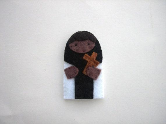 SALE! Saint Martin de Porres - Catholic saint - Toy Finger Puppet