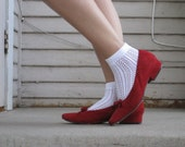 Adorable Cherry Red Shoes
