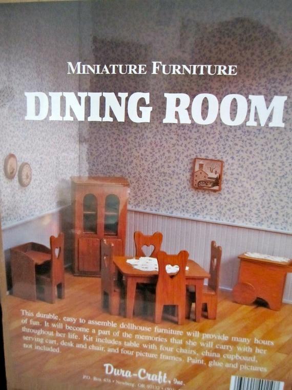 Minature Furniture Kit Dura Craft Dining Room Unopened