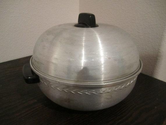 Electric Bun Warmer ~ Aluminum serving oven bun warmer west bend s style piece