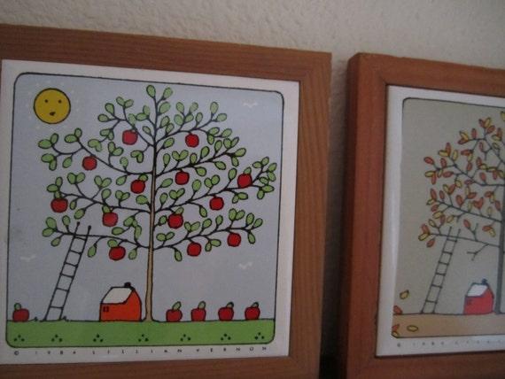 Trivet of Trees of the seasons Lillian Vernon Company