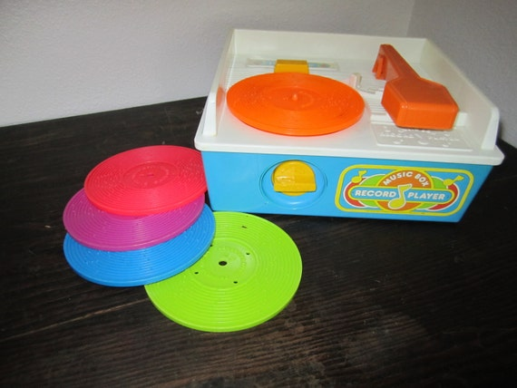 Fisher Price Toddler Record Player with records durable plastic for little ones