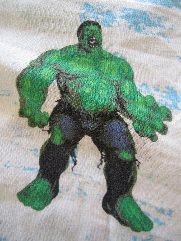 Incredible Hulk Twin Sheet Bedding Vintage by HappyKristenVintage