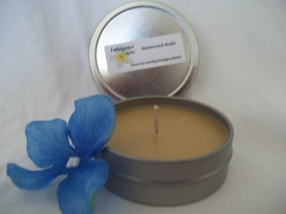 Butterscotch Brulee 2oz travel tin candle