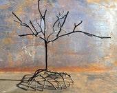 Welded Metal Tree Sculpture