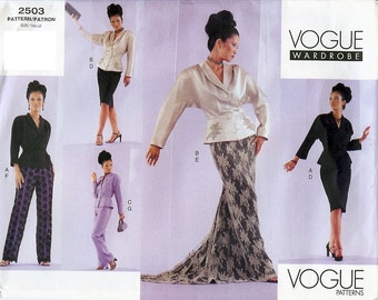 Vogue Wardrobe UNCUT Pattern 2503 - Misses Jacket, Skirt and Pants - 6-10