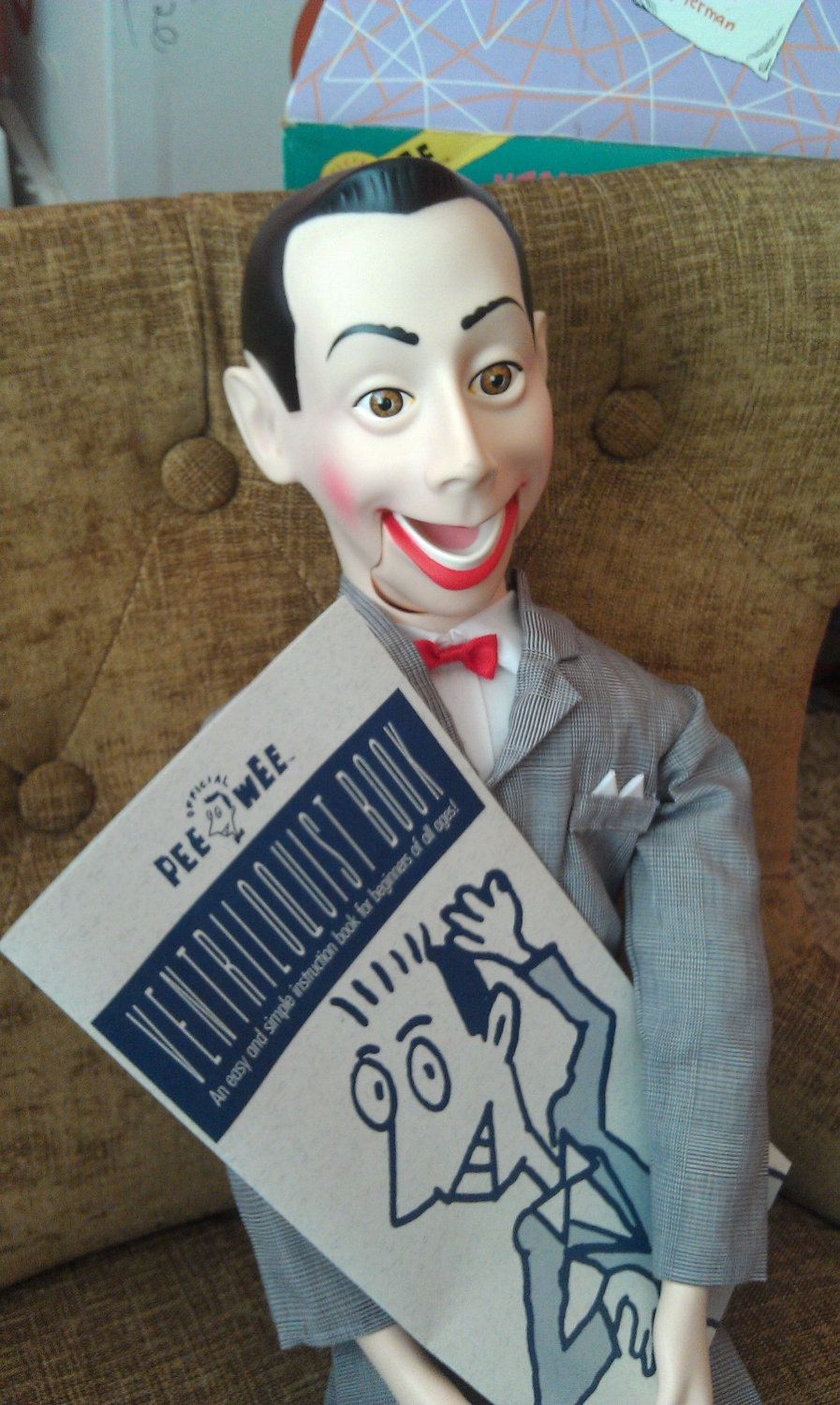 1989 pee wee herman ventriloquist doll by inrareformvintage. Black Bedroom Furniture Sets. Home Design Ideas
