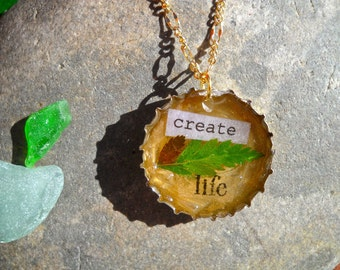 Create Life Cap Necklace