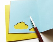 Blank Stationary Set, Cloud with Nature Stickers