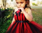 Minie Mouse Applique Tutu Dress with Ribbon Custom Party Photo Shoot Outfit (custom order) NB-4T