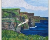 Cliffs- original oil painting print