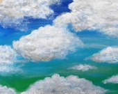 "Cloud painting ""Not Fat, just Fluffy"""