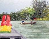 Original oil painting, from my latest adventure to Vietnam