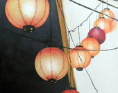 """Lantern painting is oil on canvas 8""""x10"""" inspired by my recent adventure to Siagon."""