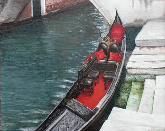 Venice OOAK oil painting