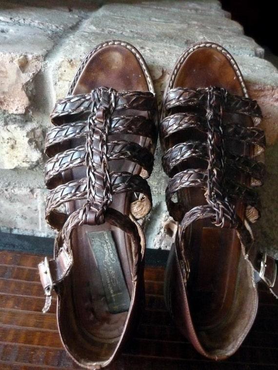 30% OFF Sesto Meucci Vintage Leather Gladiator Sandals - Size 7 1/2- Vintage Accessories