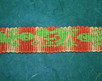 Orange Gecko - Friendship bracelet