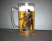Dalek Hand Painted Glass Mug