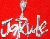 SS-0064 Silver Ja rule Pendant Charm Music Thug Life Jewelry Real Sterling Silver