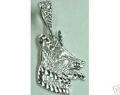 german shepherd dog pendant charm k-9 sterling silver Real Sterling silver 925 pendant Charm jewelry
