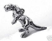 1983 silver dinosaur pendant charm tyrannosaurus t-rex Real Sterling silver 925 pendant Charm jewelry