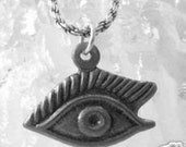 2365 sterling silver milagros charm focus eye sight Real Sterling silver 925 pendant Charm jewelry