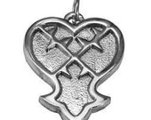 new kingdom hearts heartless solid sterling silver 925 charm jewelry pendant Real Sterling silver 925 pendant Charm jewelry