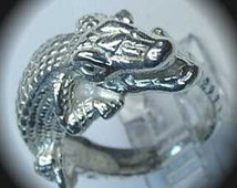 Unique Alligator Ring Related Items Etsy