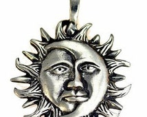 celtic sterling silver charm sun god moon goddess Real Sterling silver 925 pendant Charm jewelry